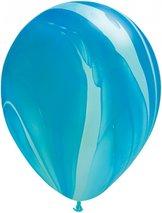 """28cm blå-regnbågsblå ballong - 11"""""""