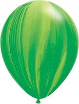 "28cm grön-regnbågsgrön ballong - 11"""