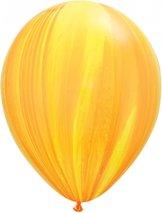 """28cm gul-regnbågsgulorange ballong - 11"""""""