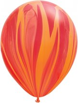 "28cm röd-regnbågsrödorange ballong - 11"""