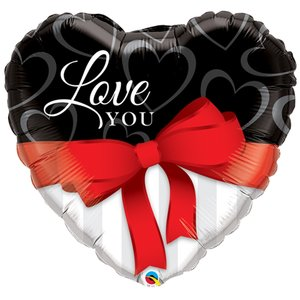 "18"" I Love You Red Ribbon"