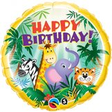 "18"" Birthday Jungle Friends"