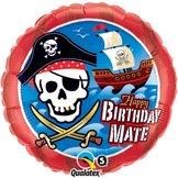 """18"""" Birthday Mate Pirate Ship"""