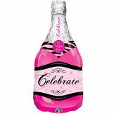 """39"""" Celebrate Pink Bubbly Wine Bottle"""