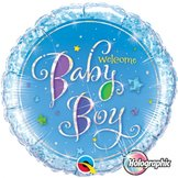 "18"" Welcome Baby Boy Stars"