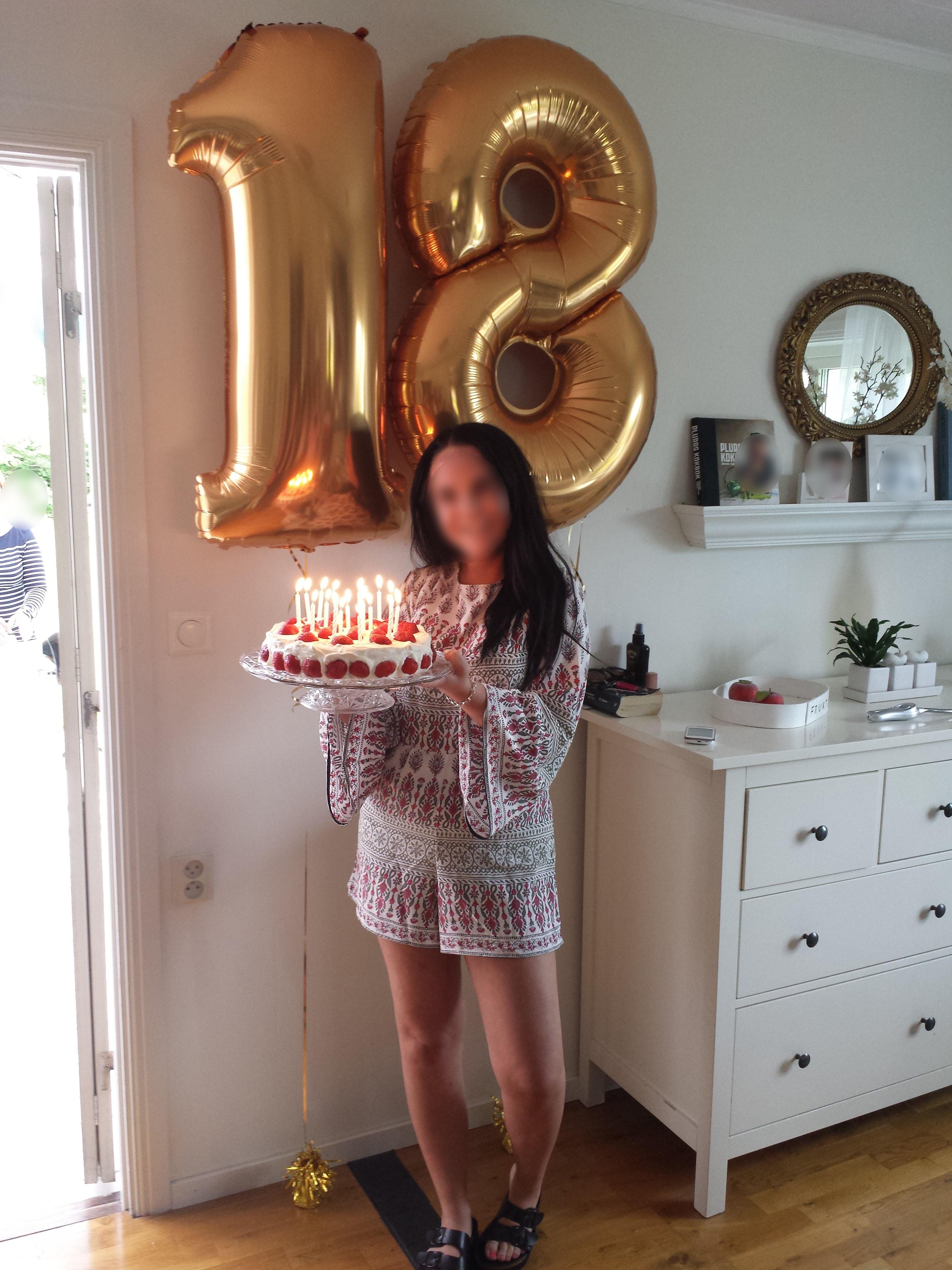 ballonger 18 år Guldsiffror   18 år   Ballongpalatset ballonger 18 år